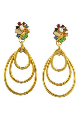 Authentic Vintage Christian Lacroix Triple Dangle Earrings (TFC-203-00002)