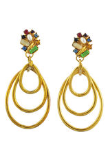 Christian Lacroix, Triple Dangle, Earrings, Lacroix