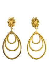 Christian lacroix triple dangle earrings 2