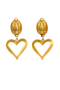 Authentic Vintage Christian Lacroix Coral Heart Clip Earrings (TFC-203-00005) - Thumbnail 1