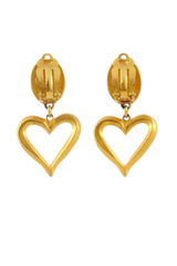 Christian lacroix coral heart clip earrings 2