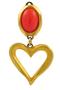 Authentic Vintage Christian Lacroix Coral Heart Clip Earrings (TFC-203-00005) - Thumbnail 3