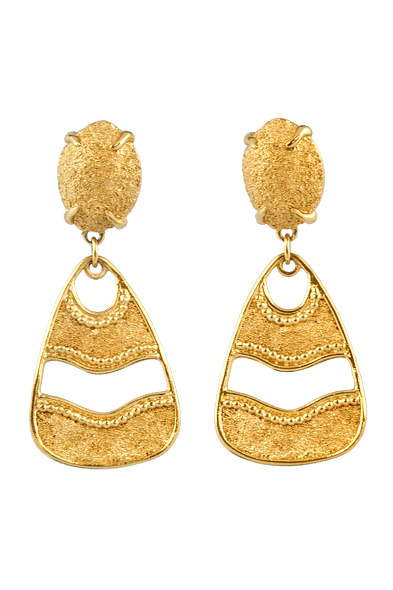 aeafaf304 Authentic Vintage Yves Saint Laurent Dangle Clip Earrings (TFC-203-00007) -  THE FIFTH COLLECTION