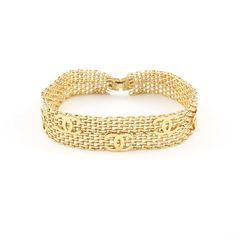 Chanel, gold metal choker