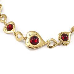 Yves saint laurent multi coloured heart necklace 2