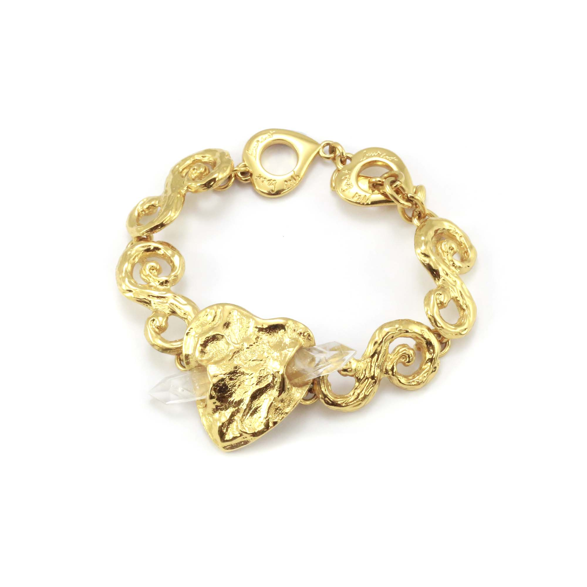 crafted product beautiful heart hand bracelet d brace m jewellery gold