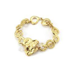 Yves Saint Laurent, crystal heart bracelet, YSL