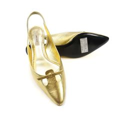 Marc jacobs gold flats 2