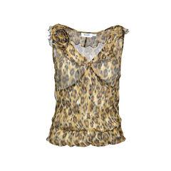 Moschino, leopard prints, sheer shiffon
