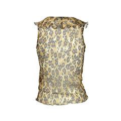 Moschino chiffon leopard print blouse 2