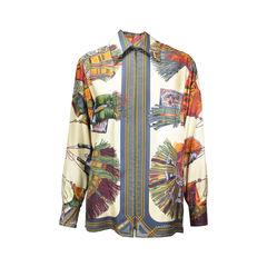 Hermes, Vintage, Silk Blouse