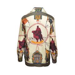 Hermes vintage silk blouse 2