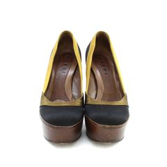 Marni, Consuelo Castiglioni, satin pump, wooden heel