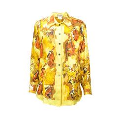 hermes, silk blouse, vintage