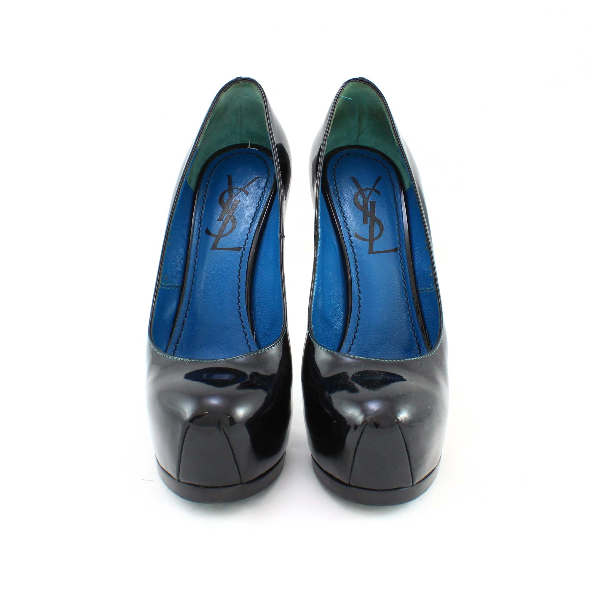ab089c25fec Authentic Second Hand Yves Saint Laurent Tribute Pump with Blue Sole  (PSS-003-00004) - THE FIFTH COLLECTION