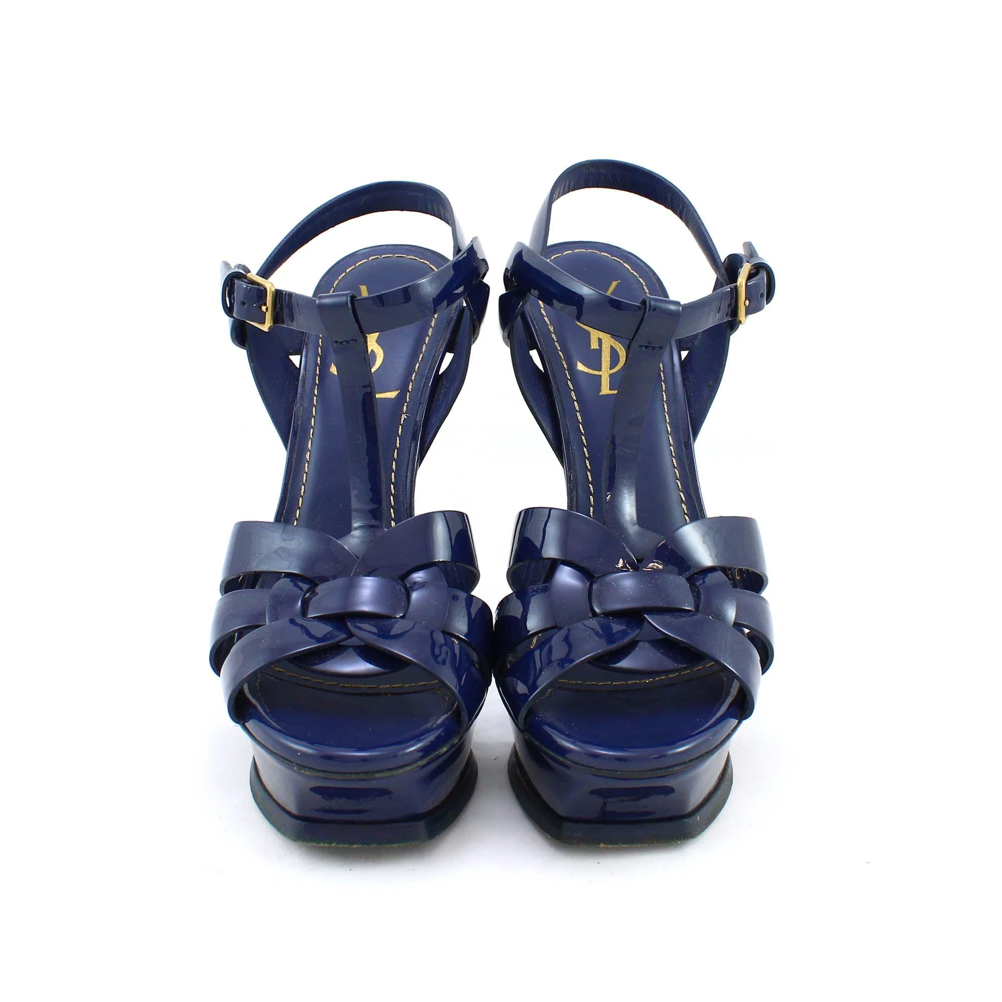 f07b34cba3b Authentic Second Hand Yves Saint Laurent Tribute Sandals (PSS-003-00005)