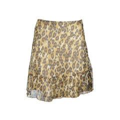 moschino, leopard print, skirt