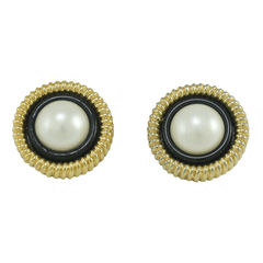 Chanel, earrings, Faux Pearl Clip Ons
