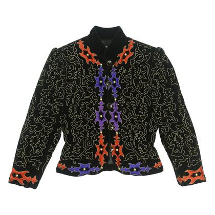 Authentic Vintage Saint Laurent Rive Gauche Embroidered Jacket (TFC-101-00029)