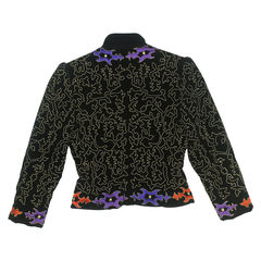 Saint laurent rive gauche embroidered jacket 2