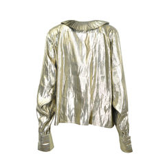 Emmanuelle khanh gold lame blouse 2