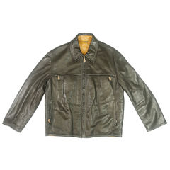 hermes, leather bomber, jacket