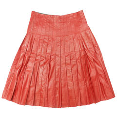 marc jacobs, leather pleated skirt