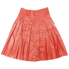 Marc jacobs leather pleated skirt 2