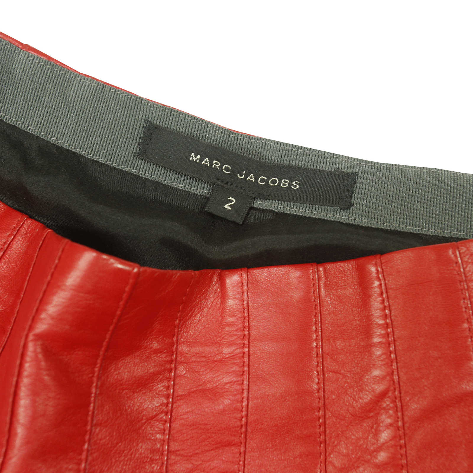 1677cab1c Red Leather Pleated Skirt – DACC