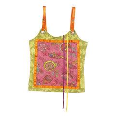 Azuleros, knitwear, floral blouse, ribbon straps