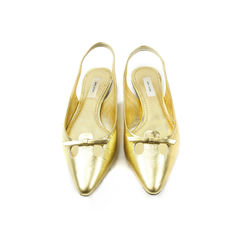 Marc Jacobs, gold flats, gold leather