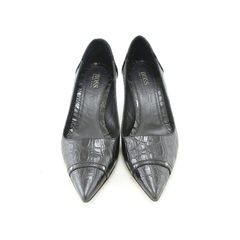 Hugo Boss, leather pumps, crocodile print