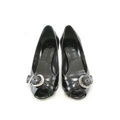 John Galliano, Christian Dior, patent leather, peep toe pumps