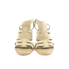 tods, taupe suede sandals