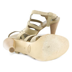 Tod s taupe suede sandals 2
