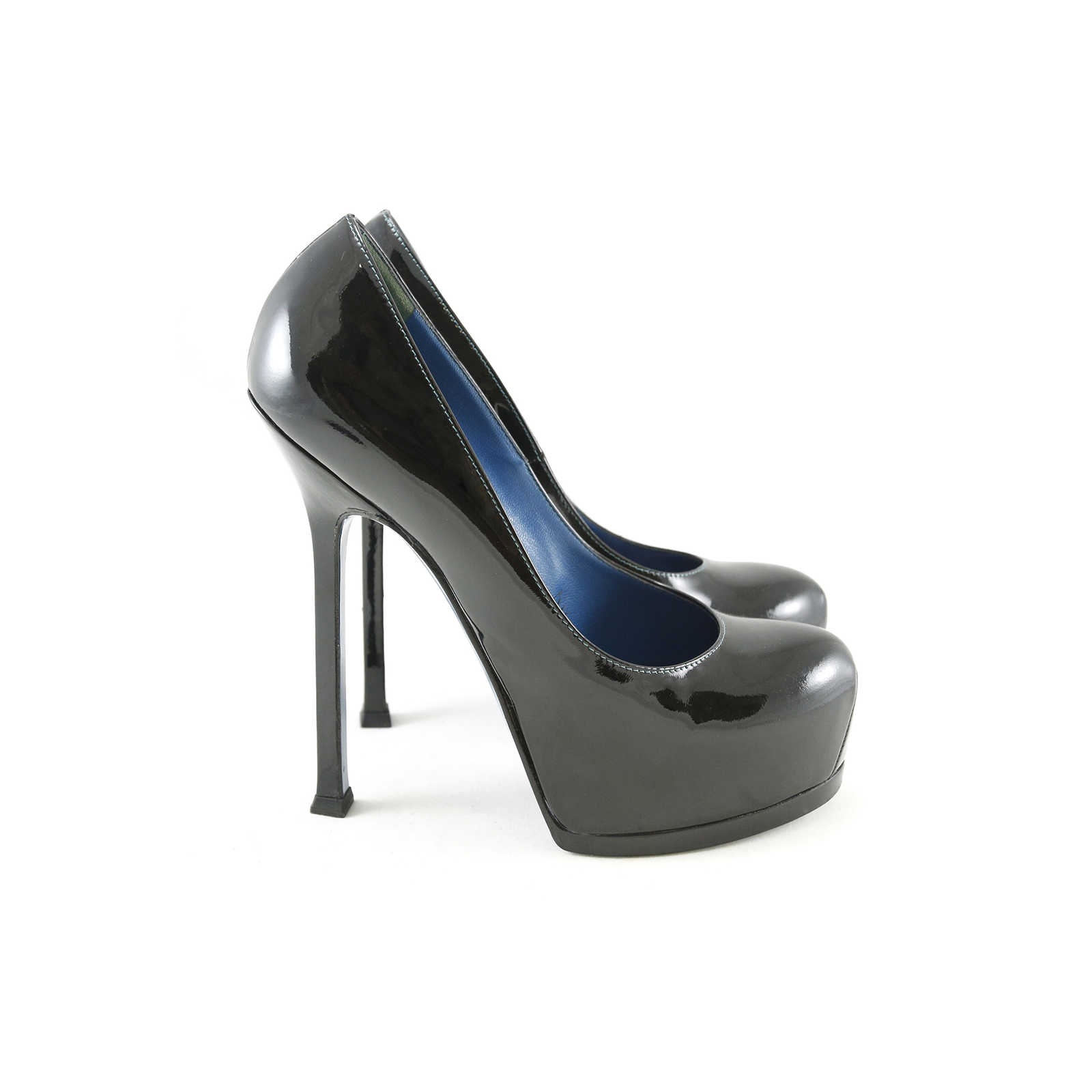 ... Authentic Pre Owned Yves Saint Laurent Tribute Pump with Blue Sole  (PSS-003- 2bc90c79e2