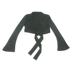 Gucci cropped ribbon tie jacket 2