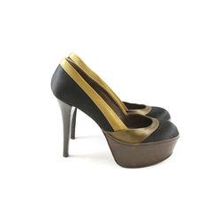 Marni satin pump with wooden heel 2