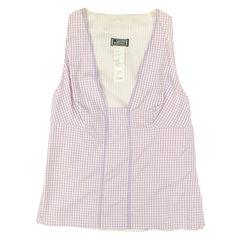 versace, plaid blouse