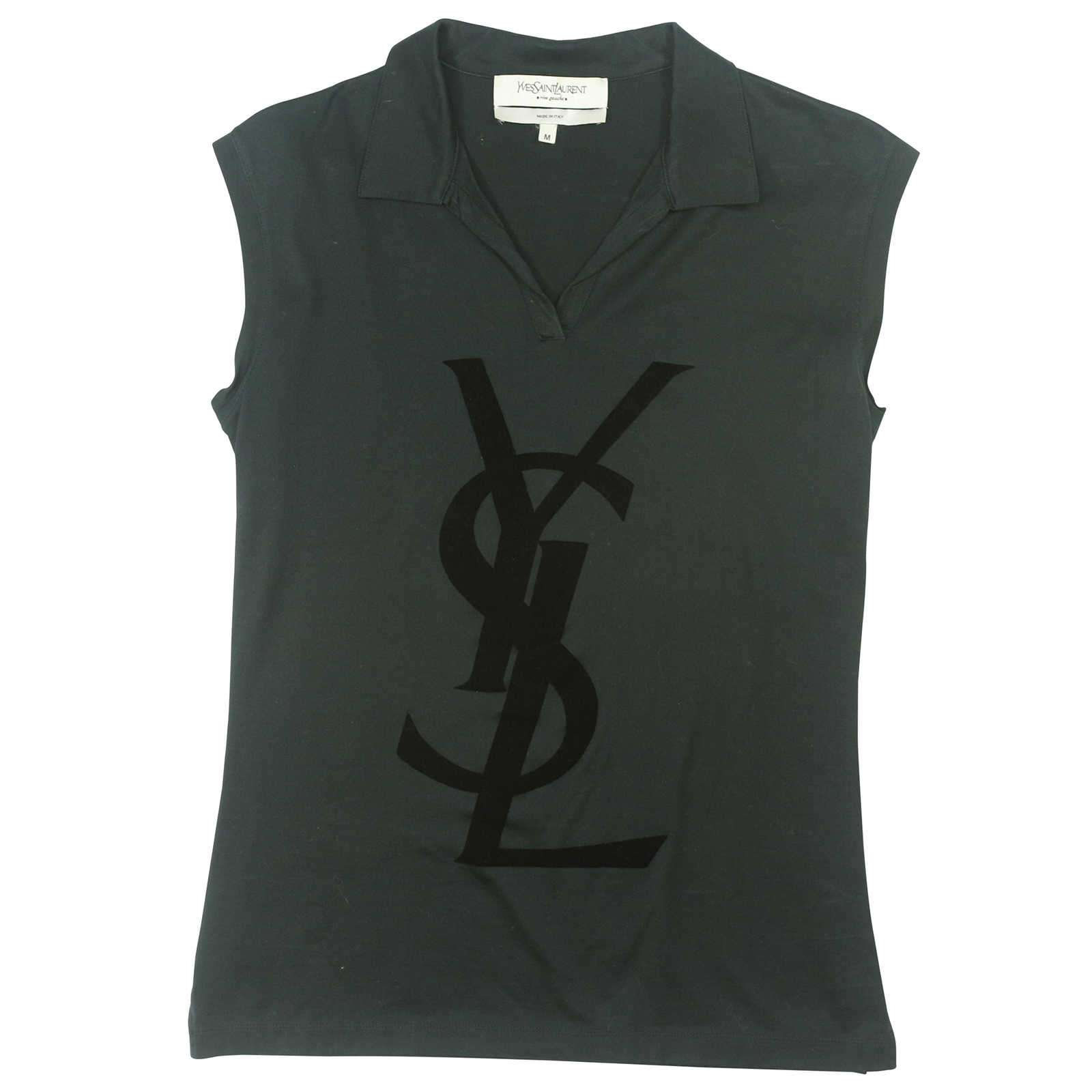 af249384bd829 Authentic Second Hand Yves Saint Laurent Collared T-Shirt (PSS-014-00015 ...