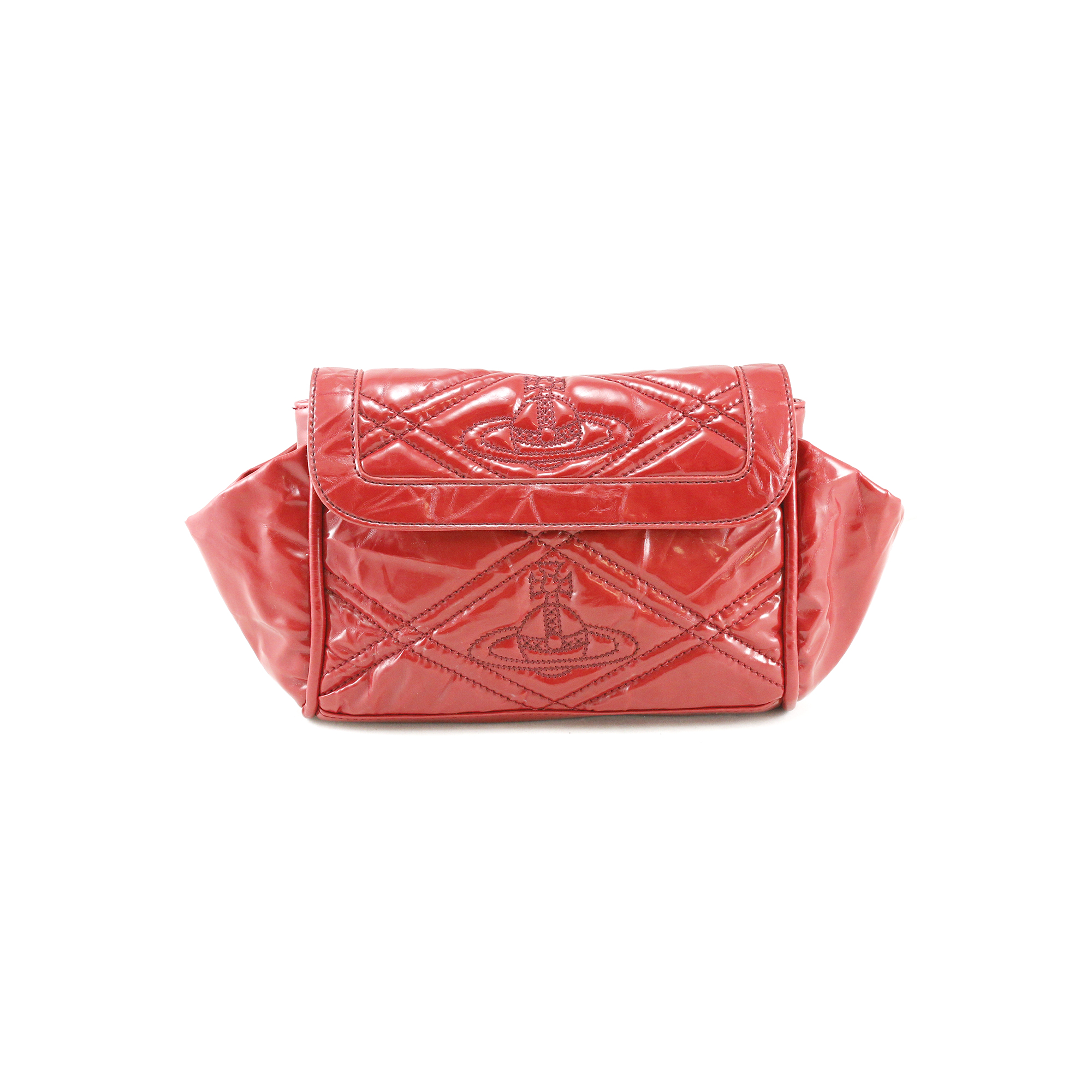 f791dc0ae1 Authentic Second Hand Vivienne Westwood Patent Leather Clutch  (PSS-005-00004) - THE FIFTH COLLECTION