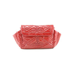 vivienne westwood, patent coated, distressed leather clutch