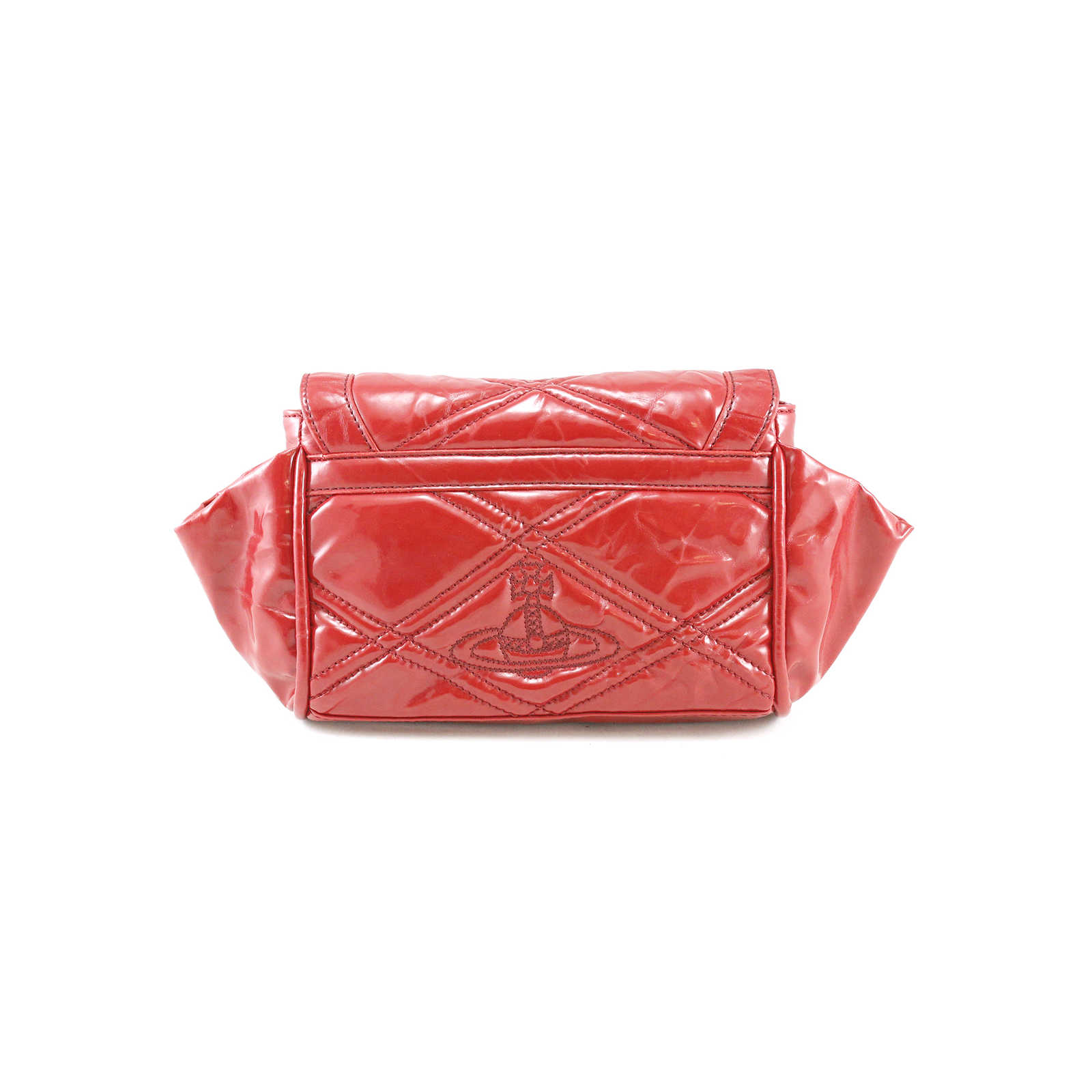 05e04a40b7 ... Authentic Second Hand Vivienne Westwood Patent Leather Clutch  (PSS-005-00004) ...