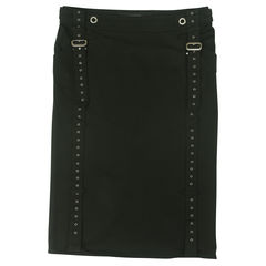 Pencil Skirt with Buckle Detail