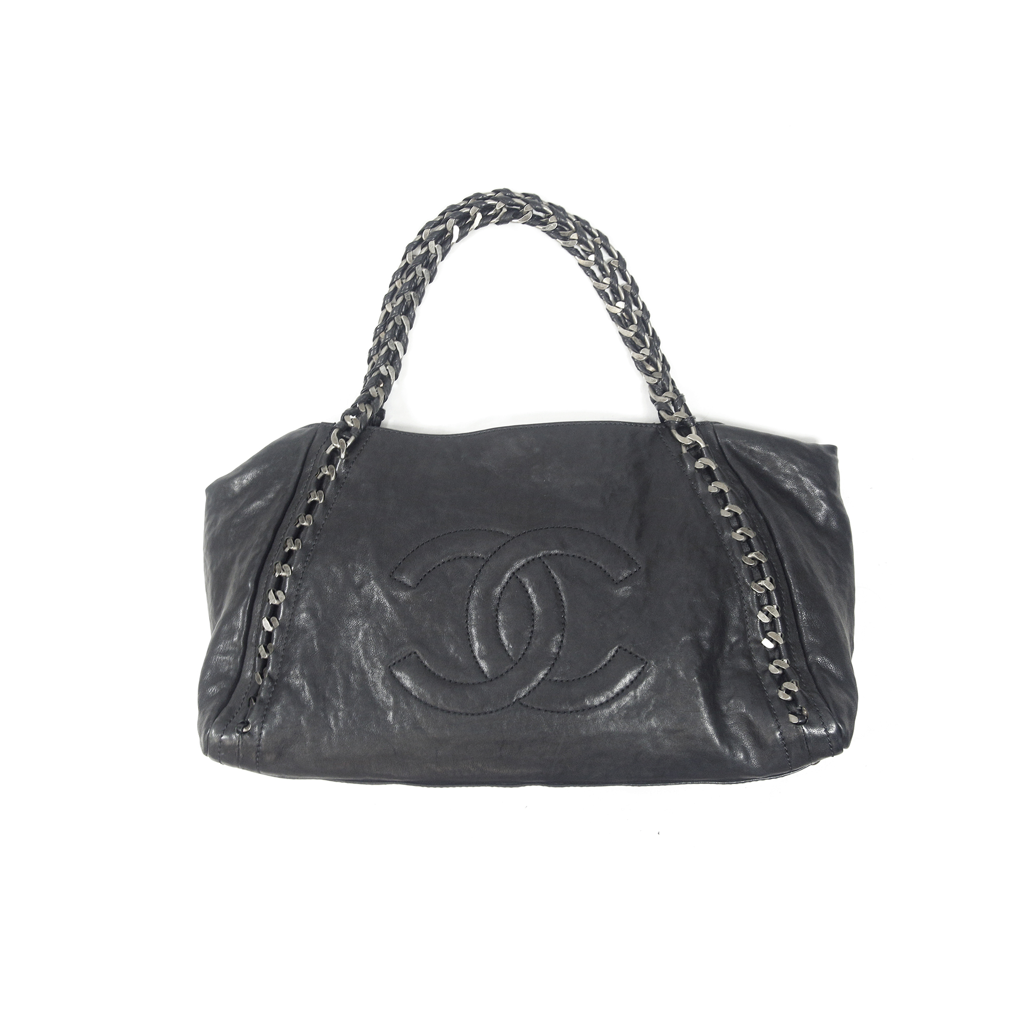 fc05a3a6cdf4 Authentic Second Hand Chanel Distressed Caviar Modern Chain XL Tote  (PSS-003-00013) | THE FIFTH COLLECTION