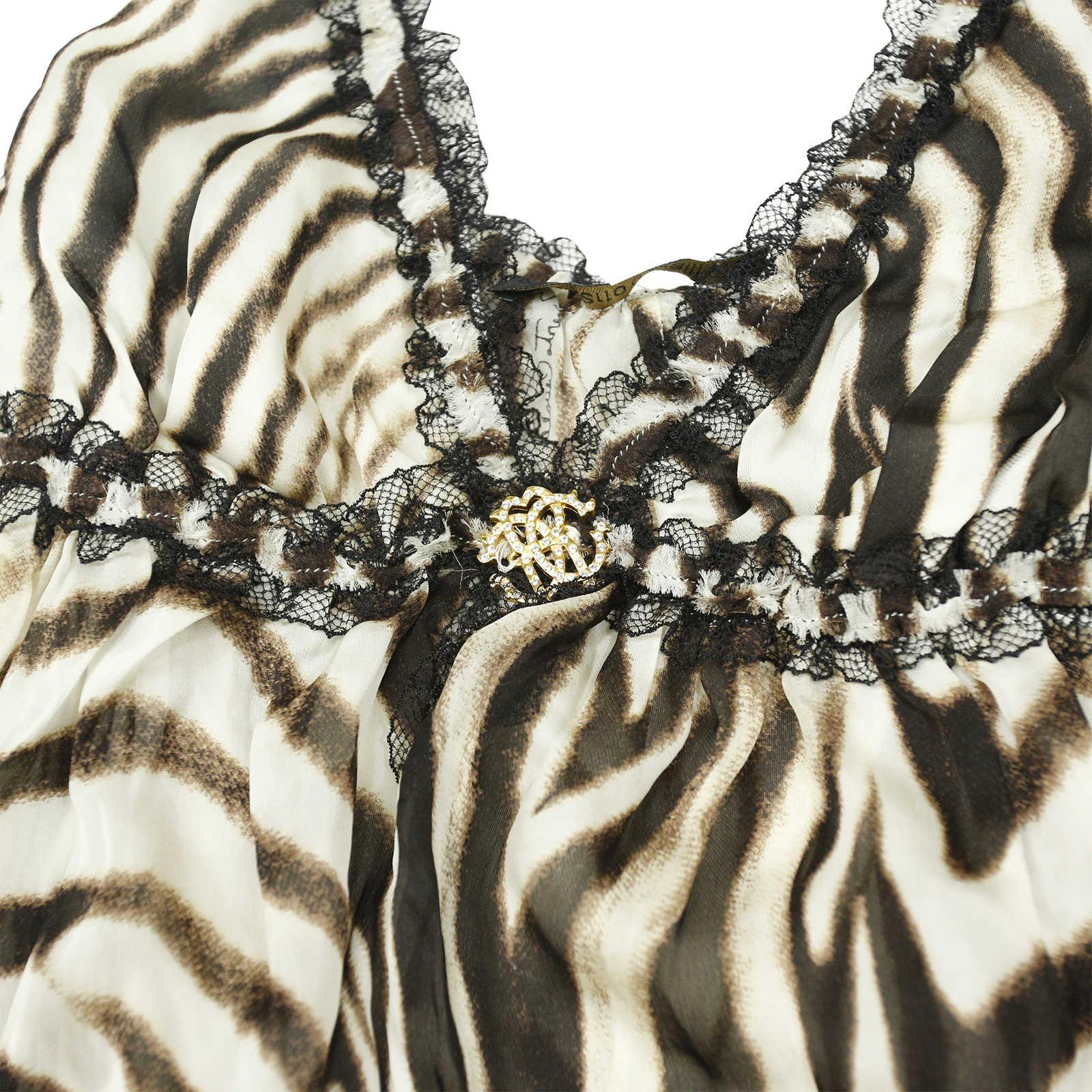 371c26f577acd ... Authentic Second Hand Roberto Cavalli Zebra Print Blouse  (PSS-004-00044) -