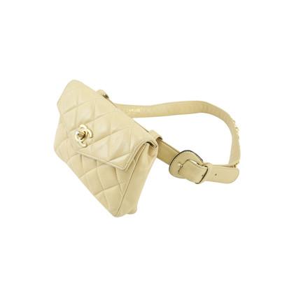 Authentic Vintage Chanel Beige Quilt Belt Bag (TFC-101-00020)