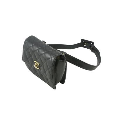 Authentic Vintage Chanel Black Belt Bag (TFC-101-00014)