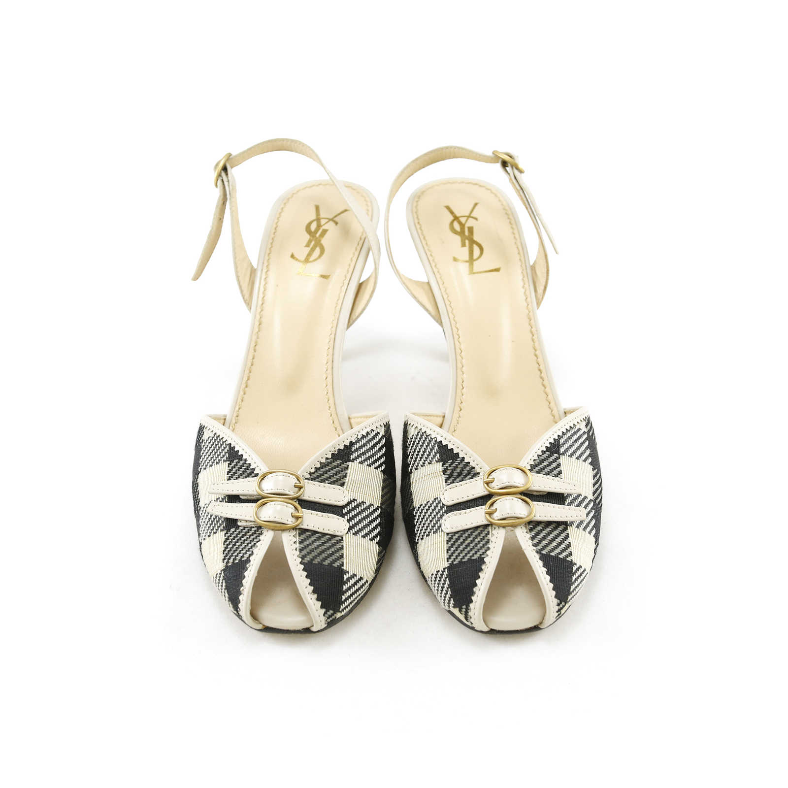 1ae197909a8 Authentic Second Hand Yves Saint Laurent Slingback Kitten Mules (PSS-014- 00005) ...