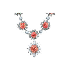 Prada crystal flower necklace 2